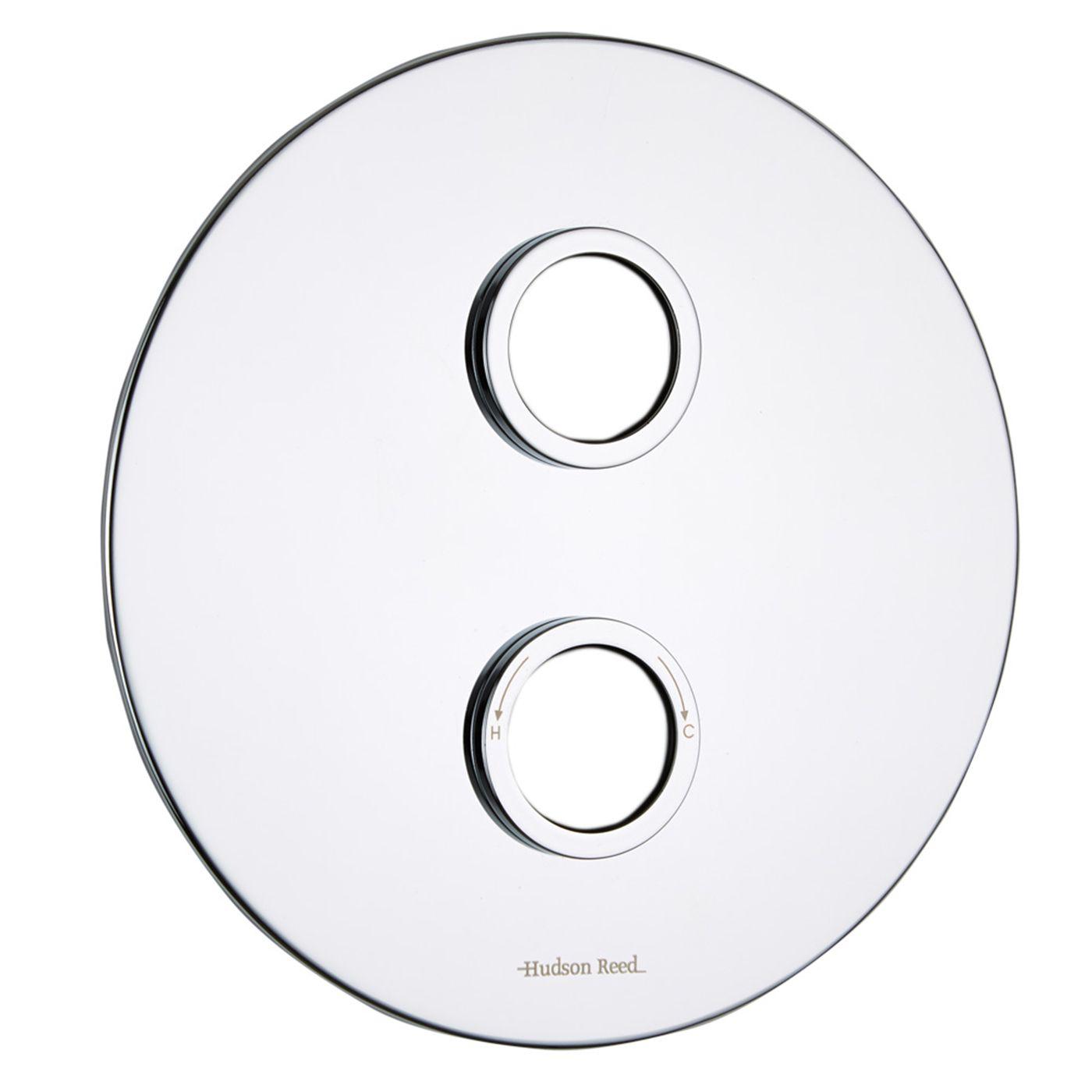 Twin Round Trim Plate
