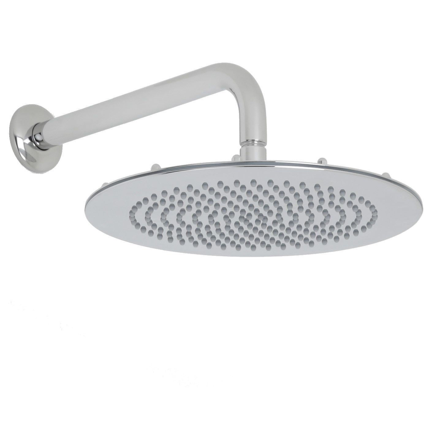 "Valquest 12"" Round Thin Shower Head with Wall Arm"