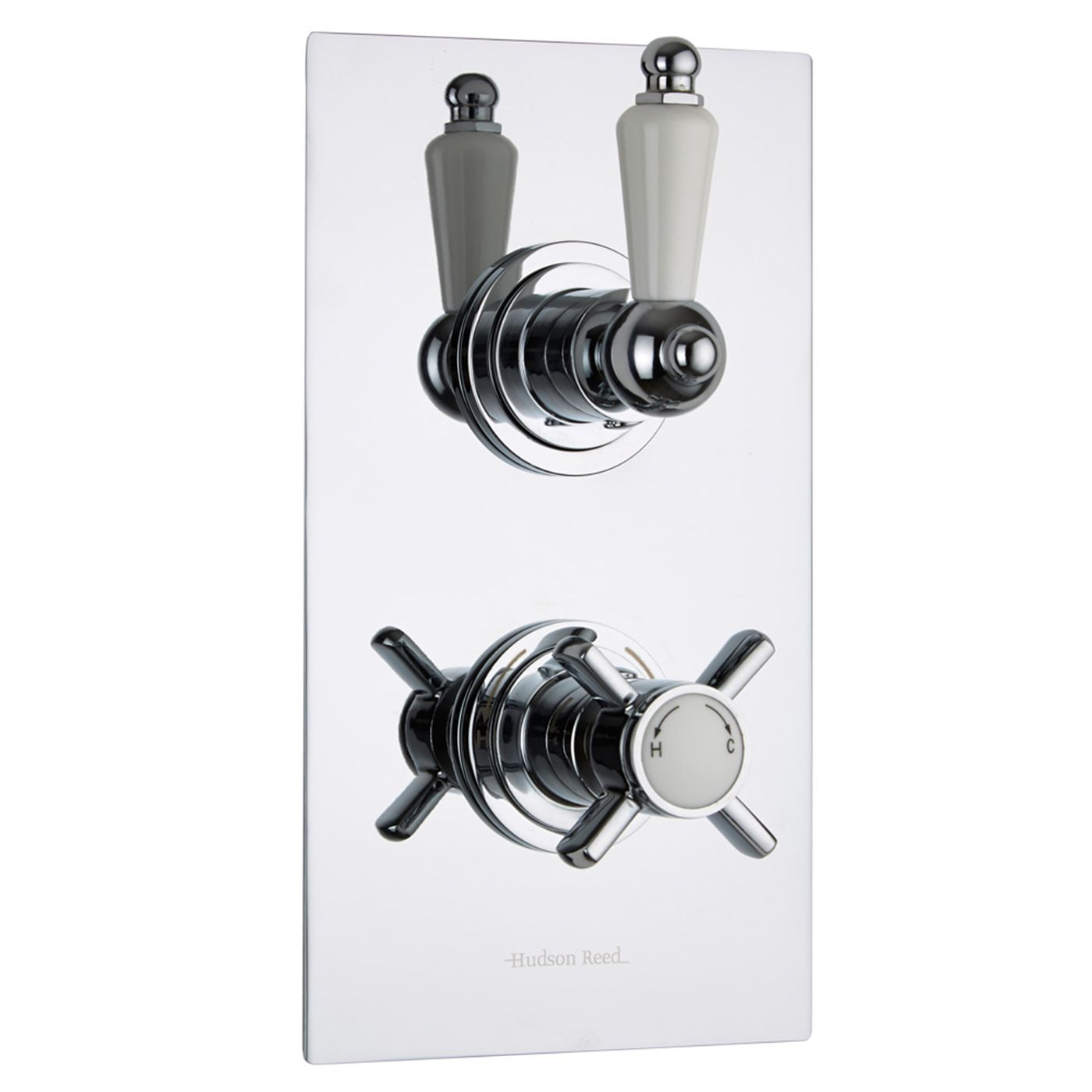 Beaumont Concealed 2 Outlet Twin with Diverter Thermostatic Shower Valve