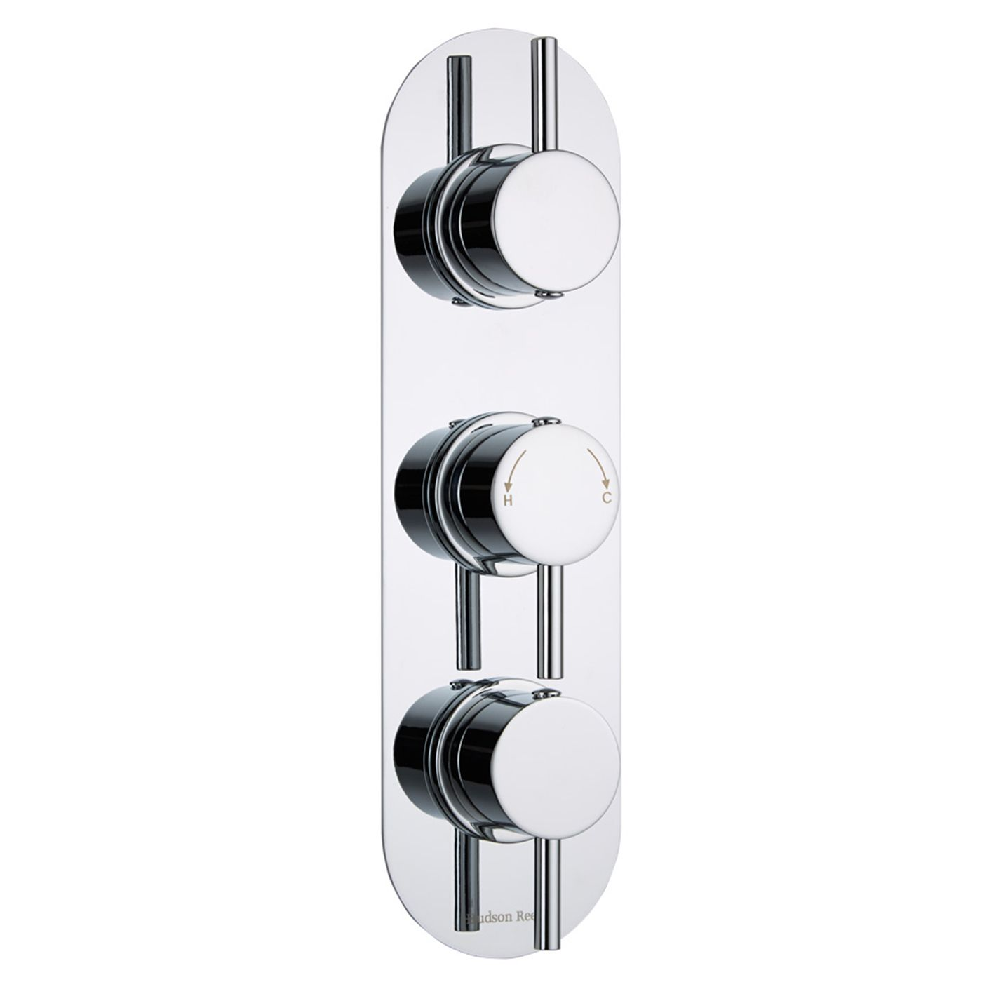 Quest Concealed 2 Outlet Triple Thermostatic Shower Valve (Racetrack Plate)