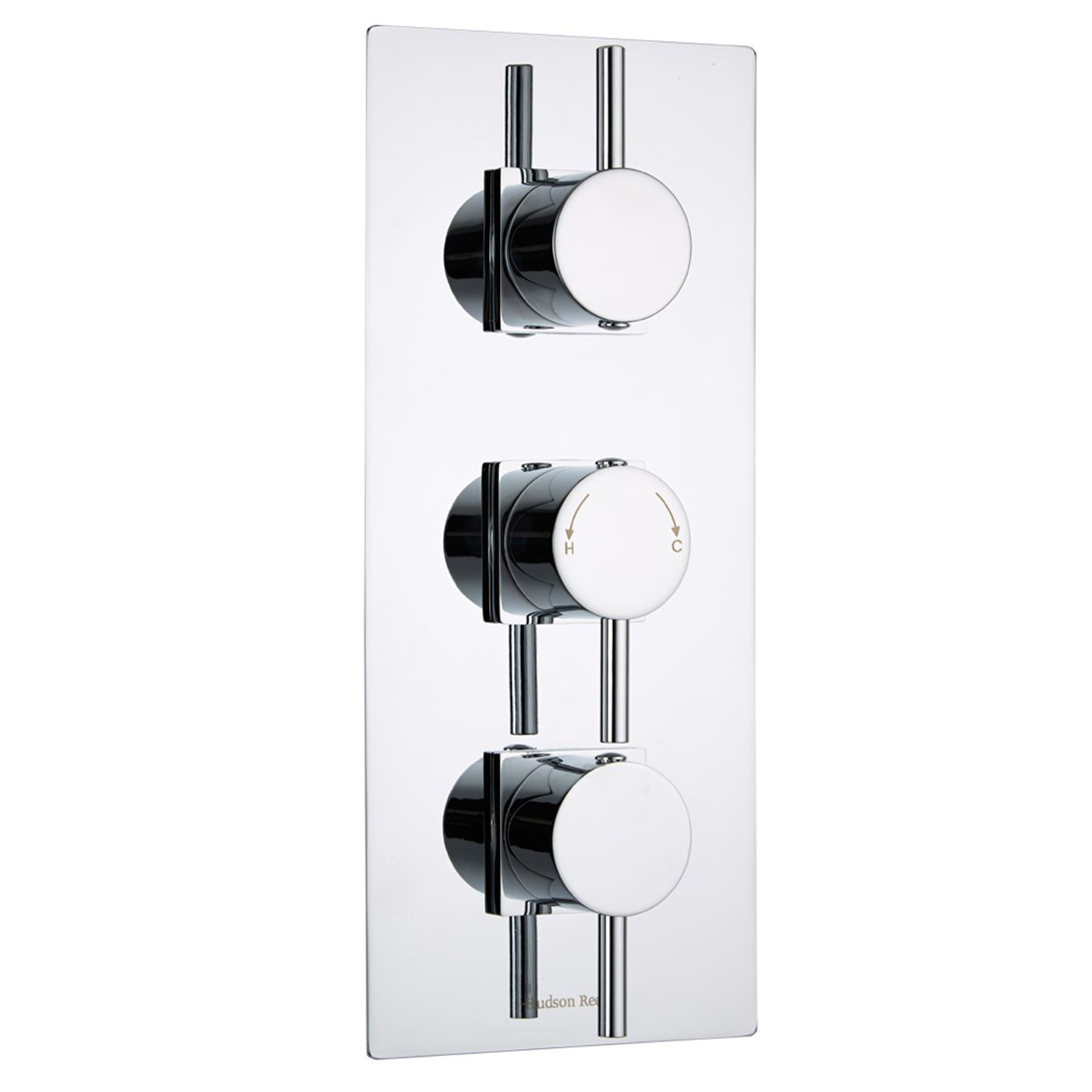Quest Concealed 2 Outlet Triple Thermostatic Shower Valve (Square Flange)