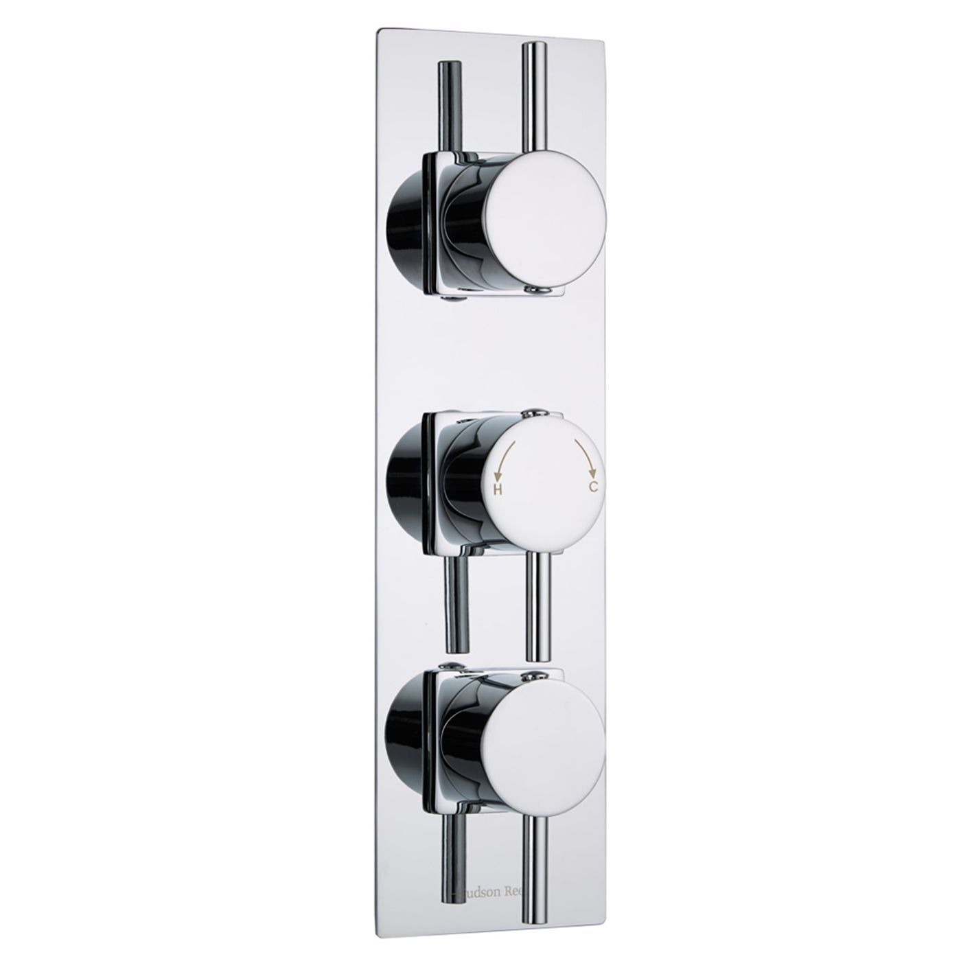 Quest Concealed 2 Outlet Triple Thermostatic Shower Valve (Slim Trim Plate)
