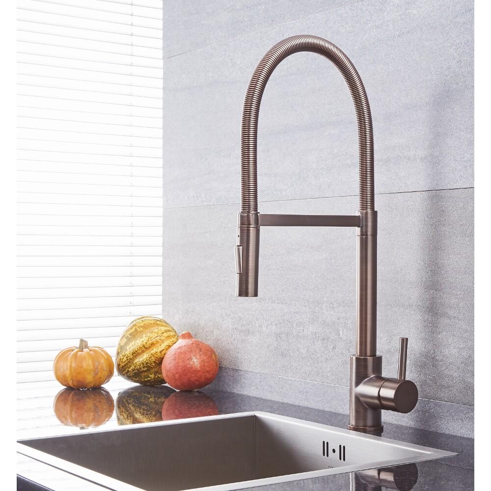 Quest - Oil-Rubbed Bronze Single-Hole Kitchen Faucet