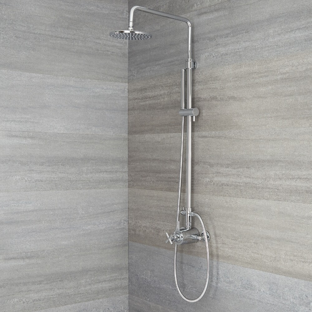 Tec - Chrome Exposed Pipe Shower System