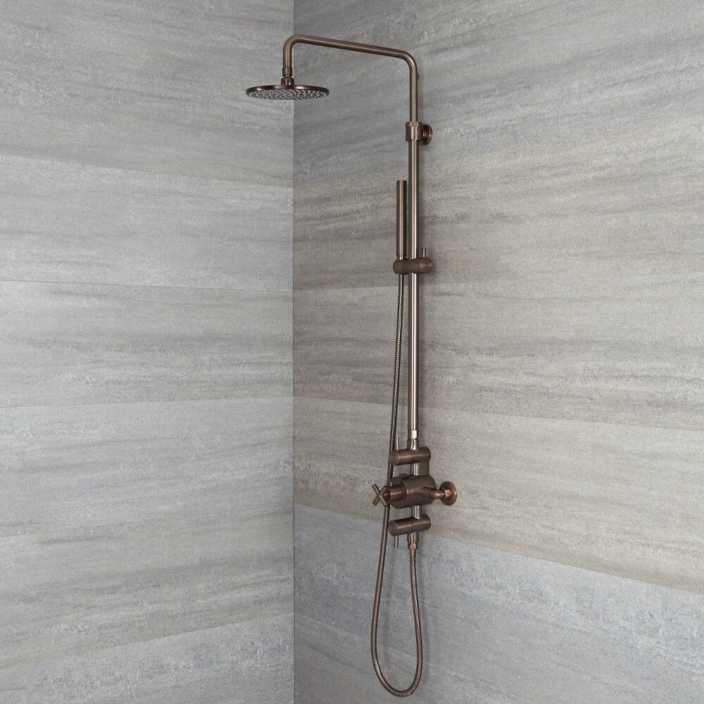 Tec - Exposed Pipe Shower Column - Available in Multitple Finishes