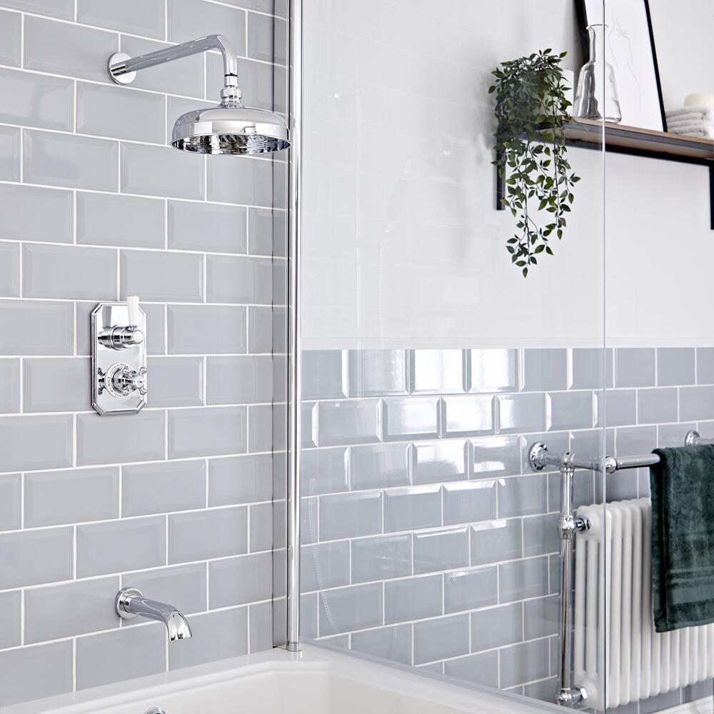 Elizabeth Traditional Thermostatic Chrome Shower System