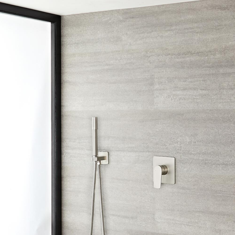 Arcadia Brushed Nickel Shower System with Handhsower